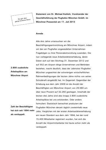 VG Statement PresseClub - Pressefassung 2013 (pdf) - Flughafen ...