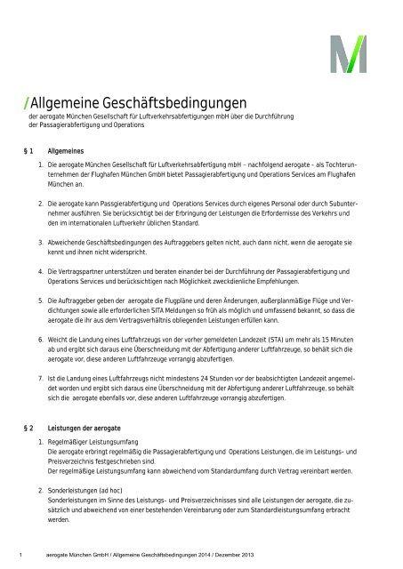 Allgemeine Geschäftsbedingungen der aerogate (pdf 35,2 KB)