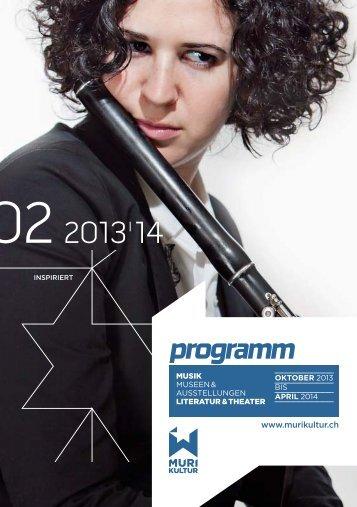 Programmbroschüre Oktober 2013 bis März 2014 - Murikultur