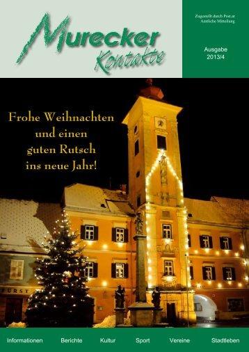 Frohe Weihnachten und einen guten Rutsch ins neue Jahr! - Mureck