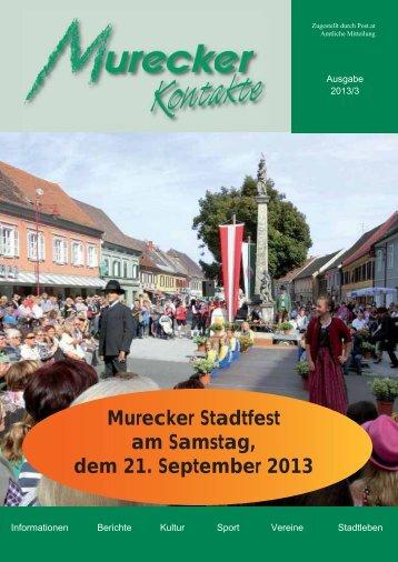 Murecker Stadtfest am Samstag, dem 21. September 2013