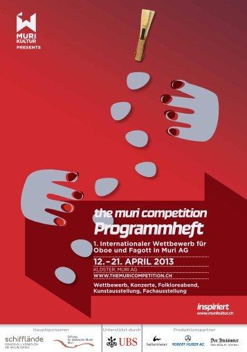 the muri competition Programmheft - Murikultur