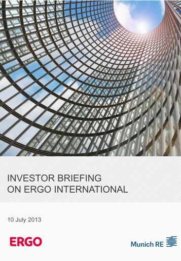 Investor Briefing on ERGO International - Munich Re