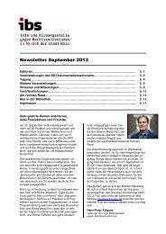 Newsletter ibs September 2013 - museenkoeln.de