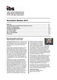 ibs Newsletter Oktober 2013 (Pdf: 1,06 MB) - museenkoeln.de