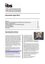 Newsletter April 2013 - museenkoeln.de
