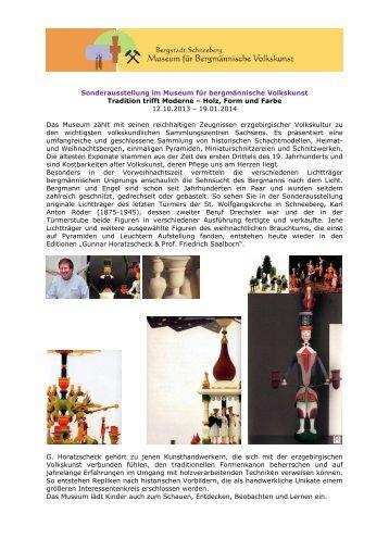 Holz, Form und Farbe 12.10.2013 – 19.0 - Museum für ...