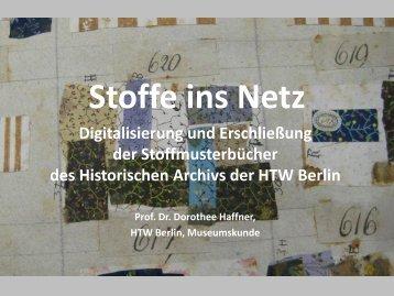 Stoffe ins Netz - Deutscher Museumsbund