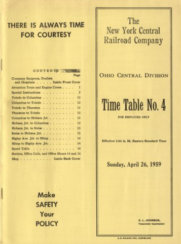 Ohio Central division - Canada Southern Railway
