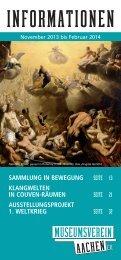 Programmheft 2013/3 - Museumsverein Aachen