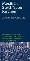 Musik in Stuttgarter Kirchen