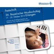 Festschrift 2013 - Verband Bayerischer Sing