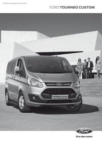Ford Tourneo Custom Preisliste