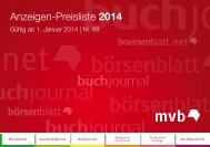 Mediadaten 2014 - MVB Marketing