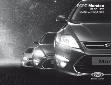 Ford Mondeo Preisliste