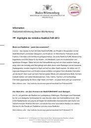 Information Radverkehrsförderung Baden-Württemberg Highlights ...