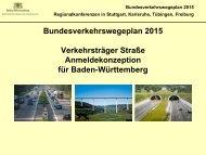 Bundesverkehrswegeplan 2015 - Ministerium für Verkehr und ...