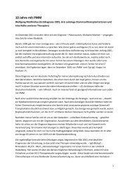 10 Jahre mit PMM - Selbsthilfegruppen Plasmozytom / Multiples ...