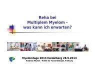 Reha bei Multiplem Myelom - was kann ich erwarten?