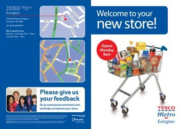 Welcome To Your New Store! - Tesco