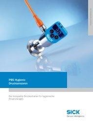 PBS Hygienic Drucksensoren - Mysick.com