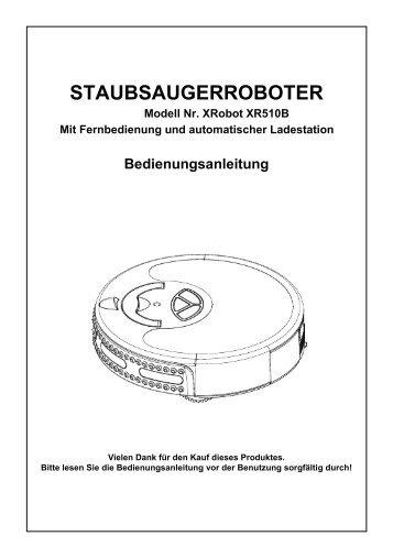 XRobot XR510 - Bedienungsanleitung DEUTSCH - myRobotcenter