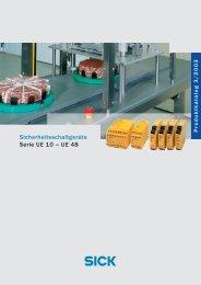 Sicherheitsschaltgeräte Serie UE 10 – UE 48 - Mysick.com