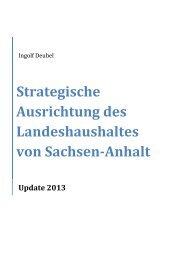 Strategische Ausrichtung des Landeshaushaltes von Sachsen-Anhalt