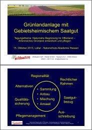 Grünlandanlage mit Gebietsheimischem Saatgut - Naturschutz ...