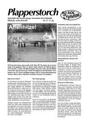 Affenhitze! - SOL - Menschen für Solidarität, Ökologie und Lebensstil