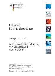 Anlage 6: Bewertung der Nachhaltigkeit von Gebäuden und ...
