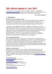 SOL-Wohn-Update 6. Juni 2011