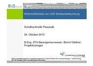 Bernd Göldner - Wirtschaftlichkeit von LED Straßenbeleuchtung ...