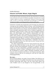 Visionen und Politik: Wissen, Angst, Wagnis - Rat für Nachhaltige ...
