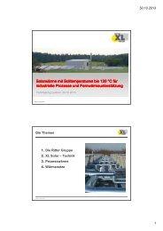 Solarwärme mit Solltemperaturen bis 120 °C für industrielle ...