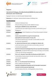 Tagungsprogramm - Nachweise International