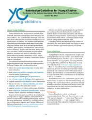young children - National Association for the Education of Young ...