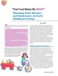 That Food Makes Me SICK! - National Association for the Education ...