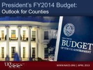 President's FY14 Budget - National Association of Counties