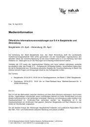 Öffentliche Informationsveranstaltungen zur S 4 in ... - nah.sh