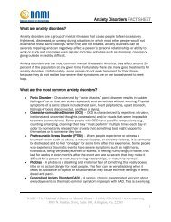 Download the NAMI anxiety disorders fact sheet