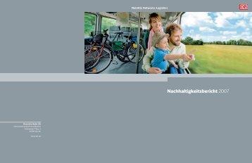 Nachhaltigkeitsbericht 2007 - Deutsche Bahn AG