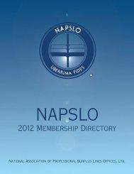 2012 Membership Directory - NAPSLO