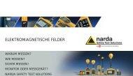 ELEKTROMAGNETISCHE FELDER - Narda