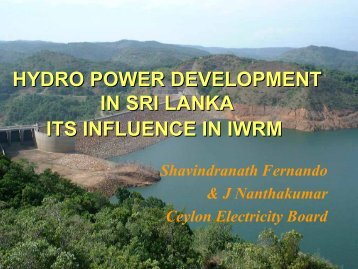 HYDRO POWER DEVELOPMENT IN SRI LANKA ITS ... - NARBO