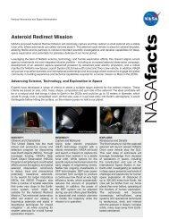 Asteroid Redirect Mission Fact Sheet (1 MB PDF) - Nasa