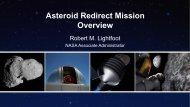 Asteroid Redirect Mission Overview - Nasa