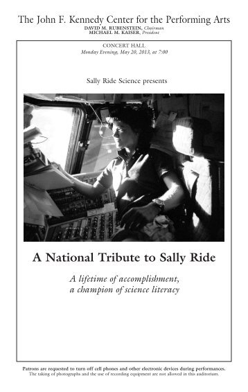 Program for National Tribute to Sally Ride - NASA