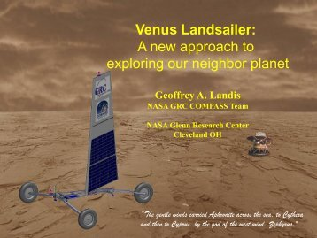 2013 Spring Symposium Presentation (PDF) - NASA