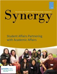 Synergy Newsletter October 2013 - NASPA